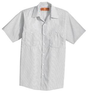 CornerStone Industrial Stripe Work Shirt Short Sleeve