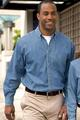 Port Authority Mens Long Sleeve Denim Shirts Tall sizes
