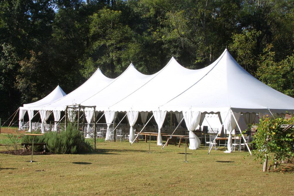 40u0027x100u0027 Pole Tent with Leg Drapes & Pole Tents - Spokane Event Rents Party And Event Rentals - The ...