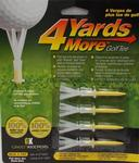 GreenKeepers 4 Yards More (Yellow) Standard Golf Tees 2 3/4