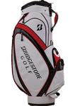 Bridgestone Golf Cart Bag (White-Black-Red)