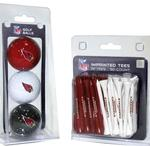 NFL 3 Golf Ball & 50 Count Tee Set (All 32 NFL Teams Available)