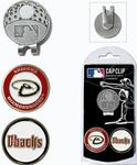 MLB Cap Clip With Two Double Sided Magnetic Markers (Nickel Finished Clip) (All Teams Available)