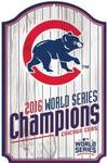 MLB World Series 2016 Chicago Cubs 11 x 17 Wood Sign