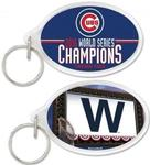 MLB World Series 2016 Chicago Cubs Acrylic Key Ring Oval