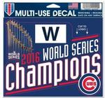 MLB World Series 2016 Chicago Cubs Multi-Use Decal