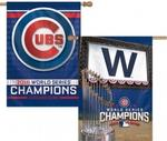 MLB World Series 2016 Chicago Cubs 2 Sided 28 x 40 Vertical Flag