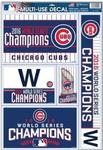 MLB World Series 2016 Chicago Cubs 5pc Decal Sheet