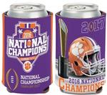 NCAA Clemson Tigers 2017 National Football Champs 12 oz. Can Cooler