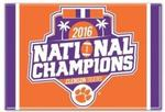NCAA Clemson Tigers 2017 National Football Champs Metal Magnet 2.5