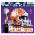 NCAA Clemson Tigers 2017 National Football Champs Multi Use Decal