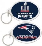 NFL New England Patriots 2017 Super Bowl Champions Oval Key Ring