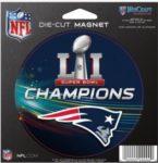 NFL New England Patriots 2017 Super Bowl Championship Die Cut Magnet