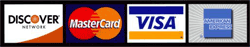 Discover, MasterCard, Visa, American Express