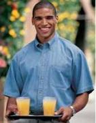 Short Sleeve Denim Shirt, OXARC Logo