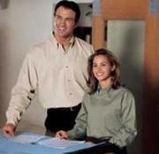 Long Sleeve Cotton Twill Shirt, OXARC Logo