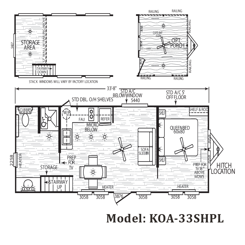 Cavco koa park model homes from 21 000 the finest for Cabin models plans