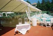 40x80 Keder tent with dance floor, tables and chairs