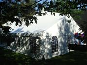 30x60 High Peak Keder tent with window sidewalls