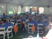 30x60 High Peak Keder tent with tables and chairs