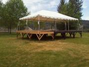 20'X30' FRAME TENT ON STAGE