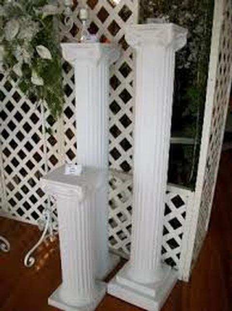 Column 72 White Plastic Flower Stand Decorative Accessories A To Z Al