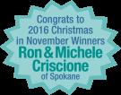Congrats To The Xmas In November 2016 Winner